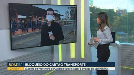Passageiros com Covid-19 tentam usar cartões bloqueados no transporte público de Curitiba