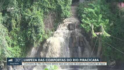 Prefeitura realiza limpeza em comportas do Rio Piracicaba