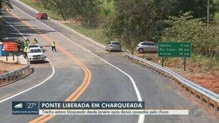 Ponte de Charqueada é liberada após 3 meses bloqueada devido a danos causados pela chuva