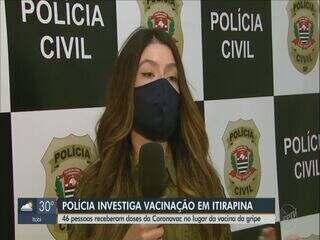 Polícia investiga troca de vacinação em Itirapina