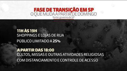 VÍDEO: Estado de São Paulo começa fase de transição neste domingo (18)