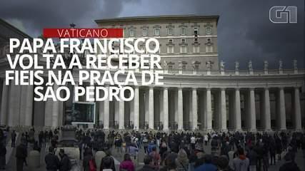 VÍDEO: Papa Francisco volta a receber fiéis na Praça de São Pedro