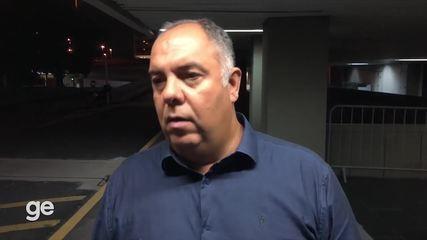 Marcos Braz comenta tropeços recentes do Fla, permanência de Ceni e situação de Arrascaeta