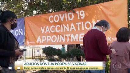 EUA ampliam vacinação contra Covid para todos a partir de 16 anos