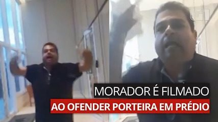 VÍDEO: Morador é filmado ao ofender porteira em prédio de Goiânia