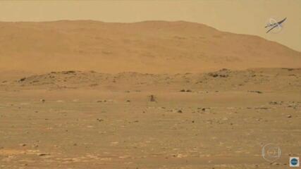 Drone da Nasa realiza em Marte o primeiro voo da história em outro planeta