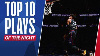 Top 10: As melhores jogadas da noite desta segunda na NBA