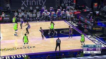 Melhores Momentos: Minnesota Timberwolves 134 x 120 Sacramento Kings pela NBA
