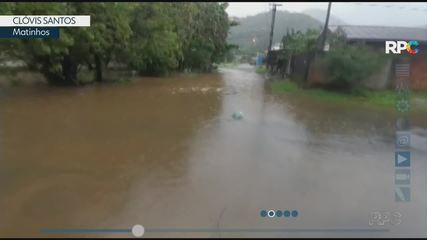 Chuva forte atinge o litoral nesta quarta-feira