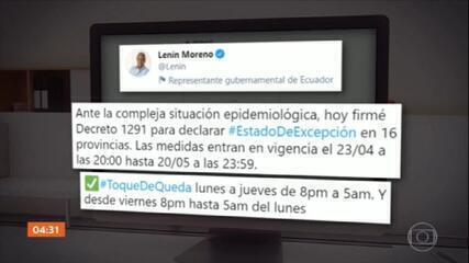 Presidente do Equador decreta estado de exceção para frear Covid-19