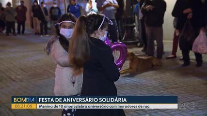 Menina comemora aniversário de 10 anos com ação solidária