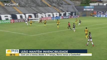 Veja os gols da vitória do Remo por 2 a 1 sobre o Castanhal