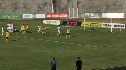 Veja os gols de FC Cascavel 1 x 1 Cianorte, pelo Paranaense