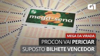 VÍDEO: Procon vai periciar bilhete de mulher que se apresentou como ganhadora da Mega