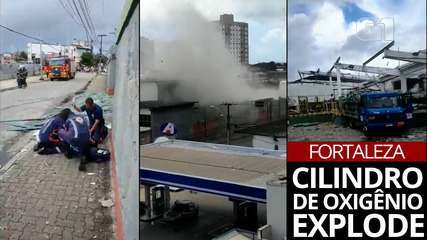 VÍDEO: Explosão de cilindro de oxigênio em Fortaleza