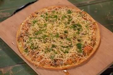 Pizza de estrogonofe