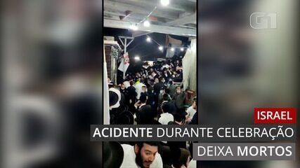 Acidente durante celebração religiosa em Israel deixa mortos