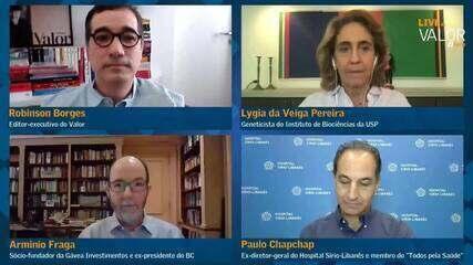 Situação da pandemia ainda é muito grave no país, dizem Arminio, Chapchap e Lygia Pereira