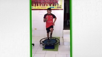 Bruninho renova com o River-PI e retoma tratamento de lesão em Teresina