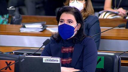 'A bancada feminina se faz presente sim nesta comissão mesmo sem direito a assento', afirma Simone Tebet