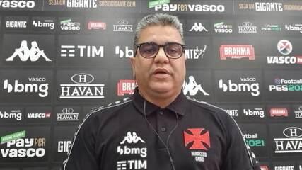 """Marcelo Cabo fala da missão do Vasco de voltar à Série A: """"Tem que entrar como protagonista"""""""