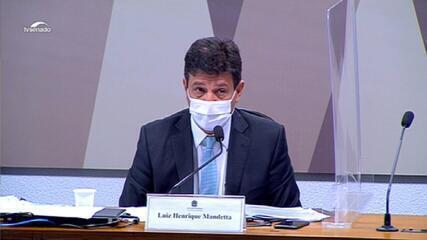 Mandetta diz que ministro Fábio Faria mandou por engano pergunta que seria feita na CPI da Covid