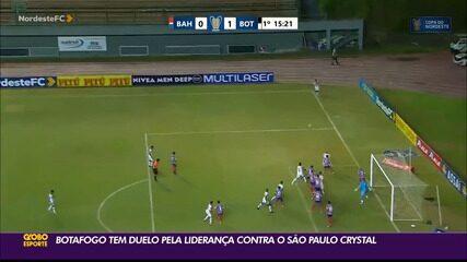 Botafogo-PB tem duelo pela liderança contra o SP Crystal