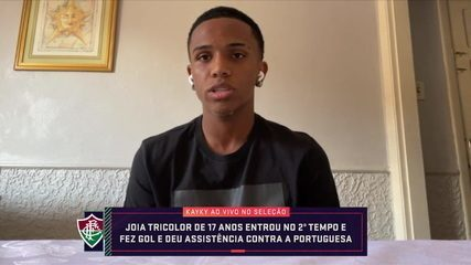 Jovem atacante Kayky comenta seu momento no Fluminense