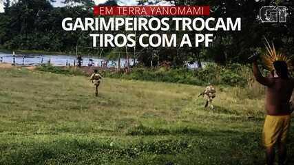 Garimpeiros trocaram tiros com a PF na terça-feira (11) na Terra Yanomami
