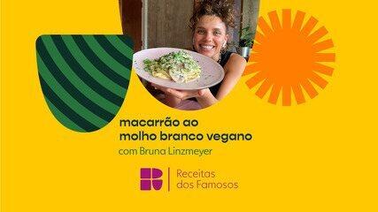 Bruna Linzmeyer ensina a fazer um macarrão ao molho branco vegano