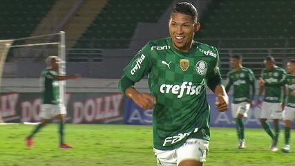 O gol de Bragantino 0 x 1 Palmeiras, pelas quartas de final do Paulistão