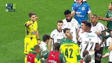 Expulsos! João Victor e Zé Rafael recebem cartão vermelho após discussão, aos 50' do 2T
