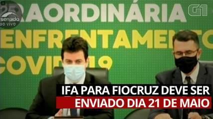 VÍDEO: Secretário diz que IFA para a Fiocruz deve ser enviado dia 21 de maio