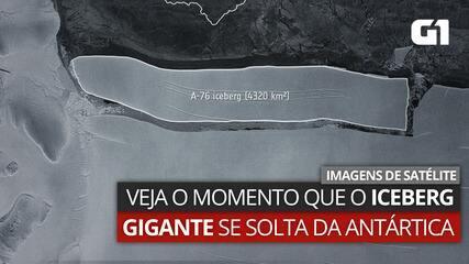VÍDEO: imagens de satélite mostram gigantesco iceberg que se soltou da Antártica