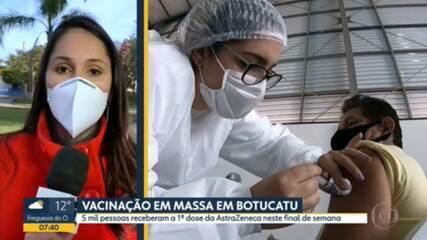 Botucatu vacinou mais de 5 mil pessoas com a primeira dose da vacina AstraZeneca