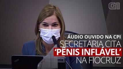 VÍDEO: Mayra Pinheiro afirma que Fiocruz tinha 'pênis' inflável na porta da instituição