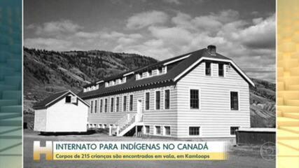 Vala com corpos de mais de 200 crianças é descoberta em internato desativado, no Canadá