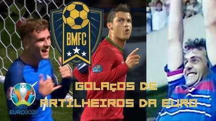 Platini, CR7, Griezmann... Veja belos gols dos maiores artilheiros da história da Euro!