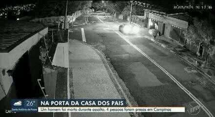 Câmera de segurança flagra roubo que terminou com morte de homem de 36 anos em Campinas