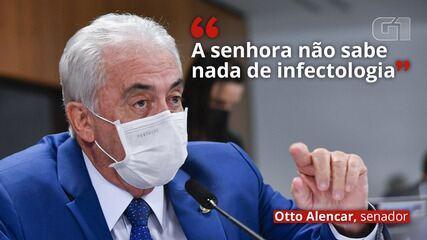 VÍDEO: 'A senhora não sabe nada de infectologia', diz Otto Alencar a Nise Yamaguchi