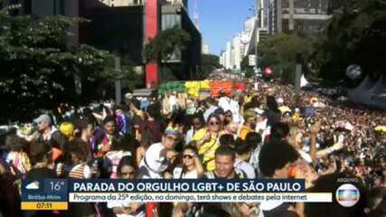 Parada do Orgulho LGBT completa 25 anos em São Paulo com evento virtual neste domingo (6)