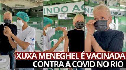 VÍDEO: Xuxa Meneghel é vacinada contra a Covid no Rio