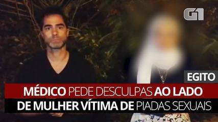 VÍDEO: Médico pede desculpas ao lado de mulher vítima de piadas sexuais
