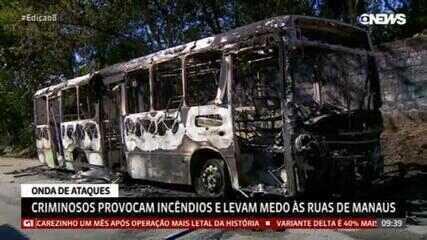 Criminosos provocam incêndios e levam medo às ruas de Manaus