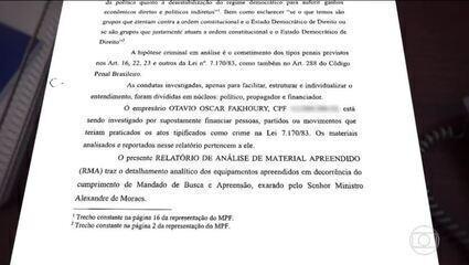 Relatório parcial da PF sobre atos antidemocráticos encaminhado à PGR mostra que aliados do presidente Bolsonaro atacaram STF após um julgamento sobre a pandemia