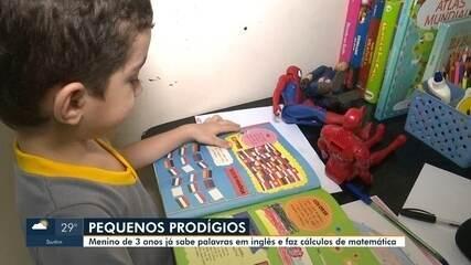 Menino de 3 anos, de RR, fala em inglês e faz cálculos matemáticos