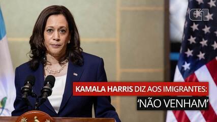 """VÍDEO: Kamala Harris diz aos imigrantes: """"não venham"""""""