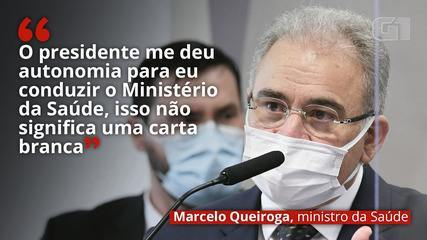 VÍDEO: 'O presidente me deu autonomia para eu conduzir o Ministério da Saúde, isso não significa uma carta branca', diz Queiroga