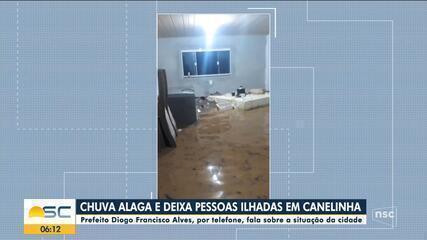 Prefeito de Canelinha fala sobre prejuízos causado pela chuva