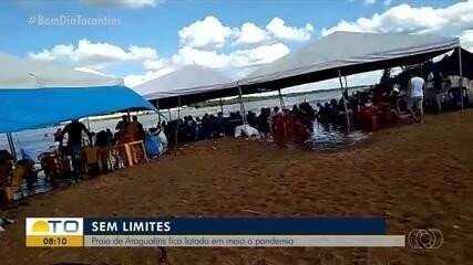 Pessoas são flagradas aglomerando em praia de Araguatins